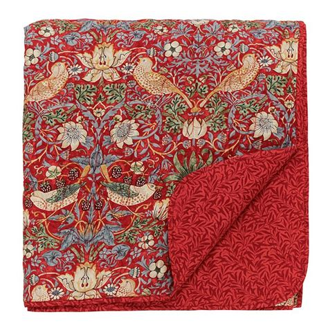 How To Make A Quilted Throw by William Morris Strawberry Thief Quilted Throw Jarrold