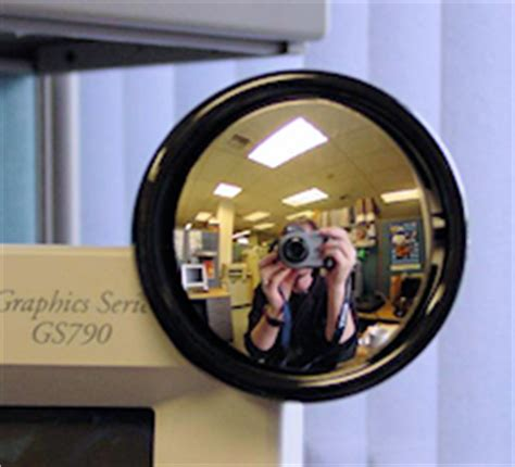 Office Desk Rear View Mirror Rearview Mirror For The Office Lets You Who S