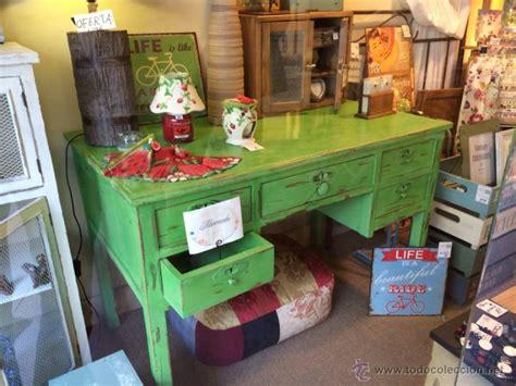 mesas de escritorio antiguas antigua mesa de escritorio pintada con pintura comprar