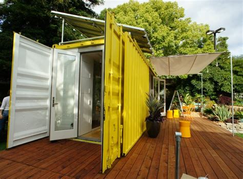 Adding Shipping Container To House - sunset idea house hybrid architecture s yellow shipping