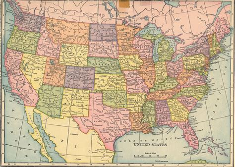 atlas map of usa states the usgenweb archives digital map library hammonds 1910