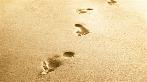 Footstep Futura Black footsteps in the sand 383849 walldevil