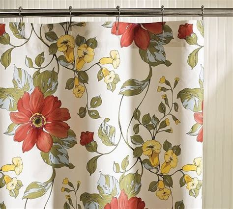 potterybarn shower curtain pin by dawn on remodel pinterest