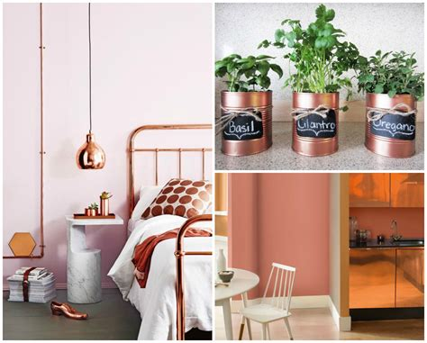 home interior accents decor inspiration copper blush accents mitchell