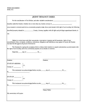 joint tenancy agreement template joint tenancy forms fill printable fillable