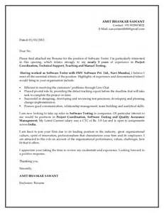 Cover Letter For Software Testing by Cover Letter