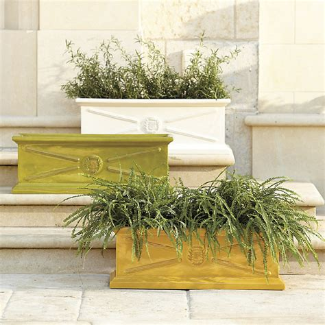 Traditional Planters by Beauclaire Rectangular Planter Traditional Indoor Pots