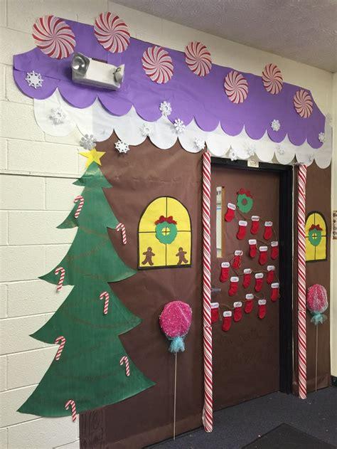 gingrbread house on school door gingerbread house classroom door s