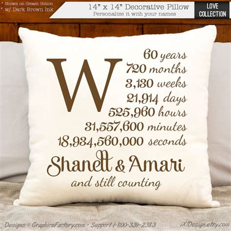 60th anniversary gifts 60th anniversary cotton gift personalized anniversary gift