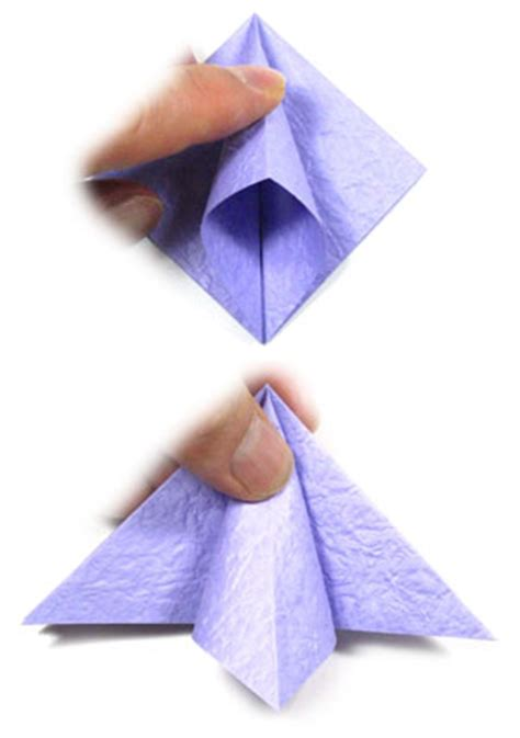 Squash Fold Origami - how to apply a squash fold in origami animated