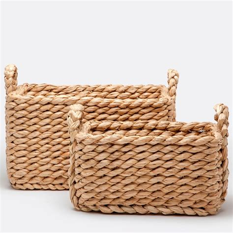 natural seagrass round wicker basket storage waste paper baskets rectangular