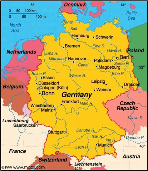 germany on map germany information and facts
