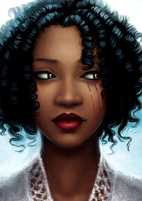 black woman portrait by florin chis on deviantart winter hayle lunar chronicles wiki fandom powered by wikia
