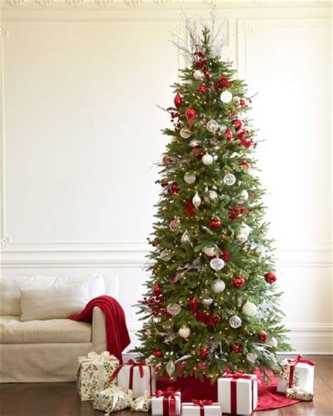 blossom hill christmas trees slim balsam hill tree decorated with velvet plum blossom picks realistic trees