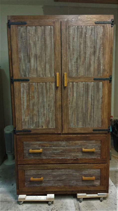 custom  rustic oak kitchen pantry  chips splinters