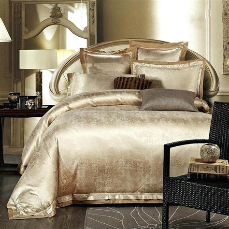 gold colored comforters duvet covers gold color gold white blue jacquard silk