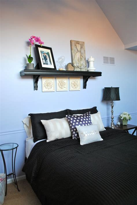 shelf above bed bedroom inspiration