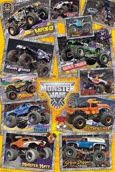 grave digger monster truck poster monster jam trucks poster 61x91cm new grave digger mutt