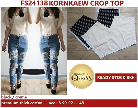 Baju Crop Import kornkaew crop top supplier baju bangkok korea dan hongkong premium quality import thailand