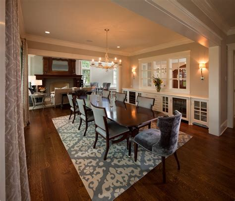Transitional Dining Room With Gray Chairs