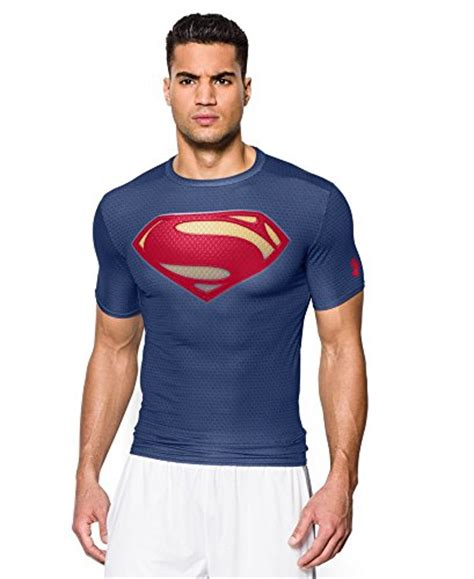 Baju Kaos Fitness Alter Ego Superman Blue whats the best compression shirt for performance results