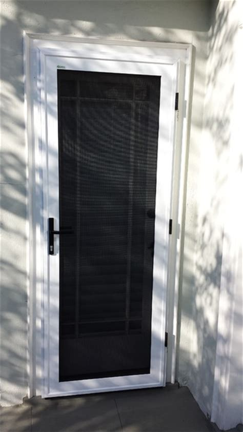 Side Hinged Security Screen Door Pasadena Front Door Security Screen
