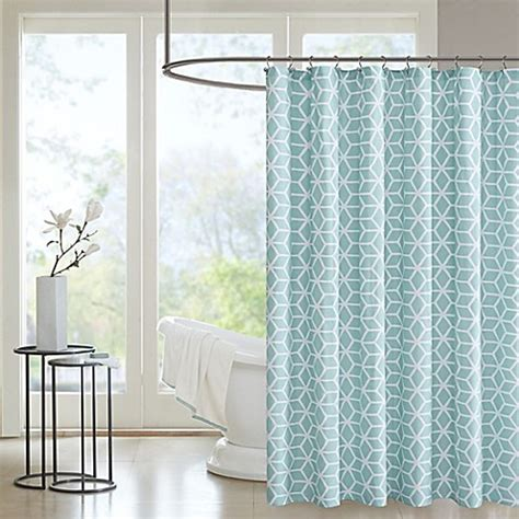 aqua shower curtains madison park pure alexa aqua shower curtain bed bath