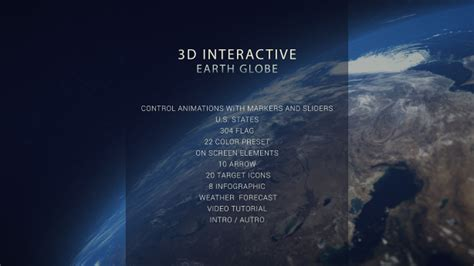 3d Interactive Earth Globe Download Free After Effects Templates 3d Globe After Effects Template