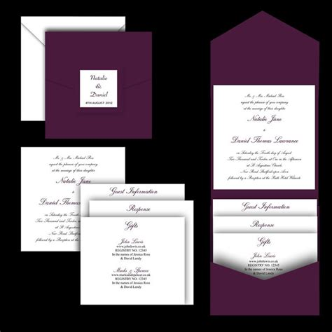 wedding invitation pocket folds uk 50 blank quot aubergine quot pocketfold pocket fold wedding