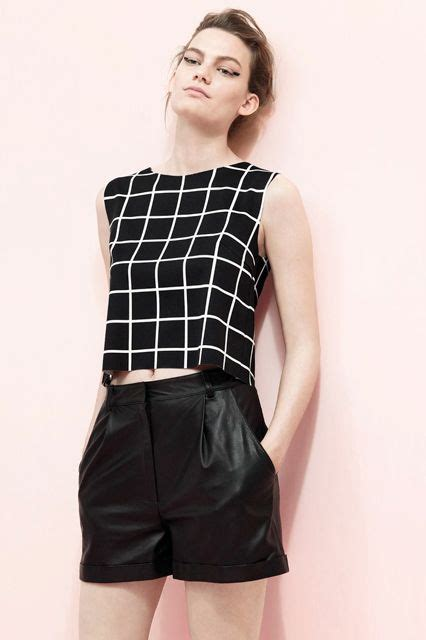 grid pattern top dark colors summer trends styling tips fashion dark