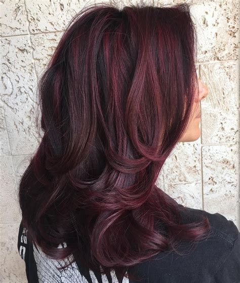 hairstyles burgundy highlights 45 shades of burgundy hair dark burgundy maroon