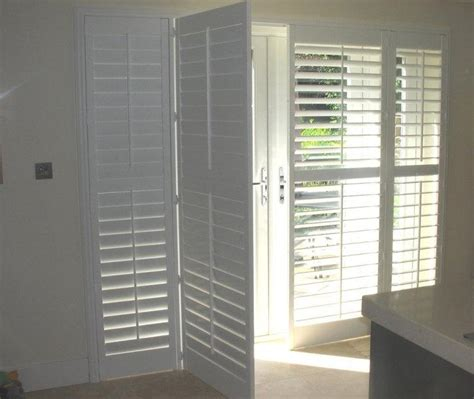 Patio Door Shutters Interior Photos Of Plantation Shutters On Doors