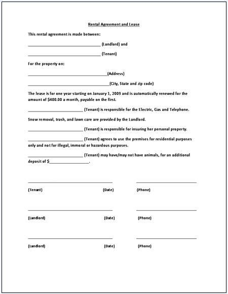 lease extension agreement template lease renewal