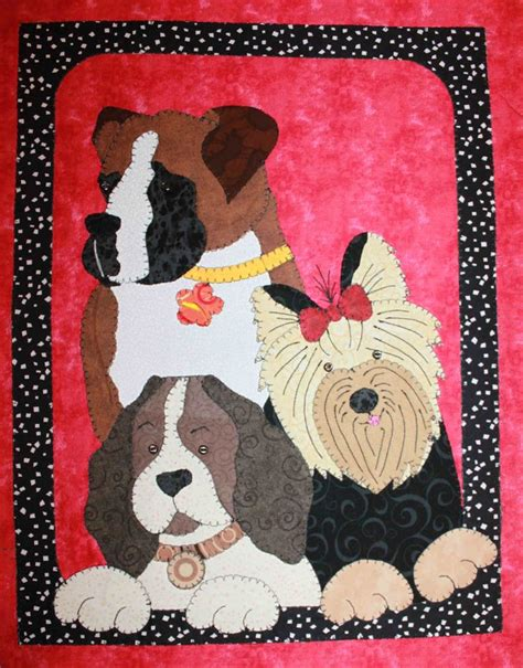 Patchwork Wall Hanging Patterns - dogs quilted wall hanging quilts dogs cats babies