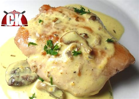 how to make sauteed chicken with mushroom cream sauce