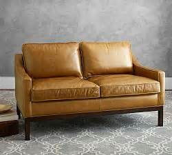 Dales Furniture by Turner Square Arm Leather Sofa With Nailheads Pottery Barn