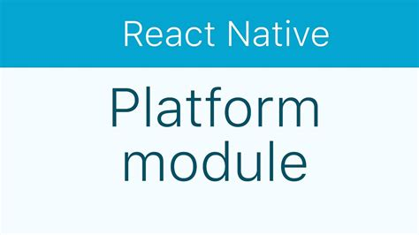 react native module tutorial react native tutorial 16 platform specific code youtube