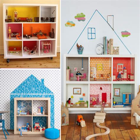 the dolls house shelves as a doll house