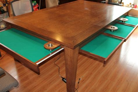 Gaming Table by Crafted Table W Removable Top Cup Holders