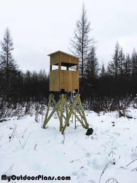 diy  deer stand myoutdoorplans  woodworking