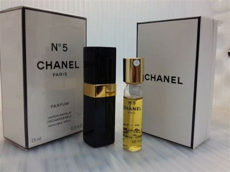 Parfum 5 Ml by Chanel No 5 Parfum 0 25 Fl Oz 7 5 Ml Parfum Refillable Spray Sealed Ebay