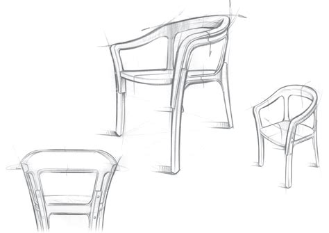 Pencil Sketches Of Chairs Sketch by Sketch Steel Wood Chair By The Bouroullec Brothers On