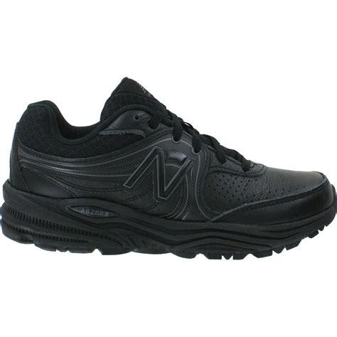 womans sneakers new balance black leather walking shoes philly