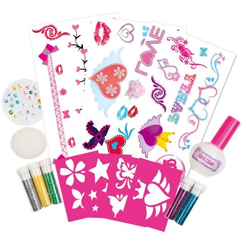 glitter tattoo kits glitter kit galt toys