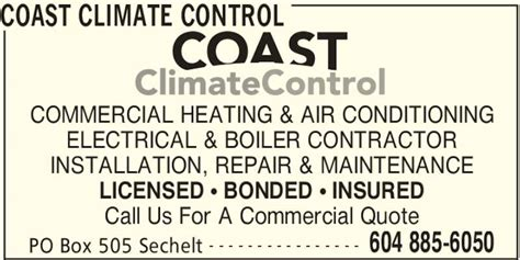 how to get insured and bonded for house cleaning coast climate control po box 505 sechelt bc