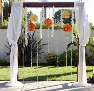 wedding arbor used summer wedding with bahamas flair fullerton wedding florist heavenly blooms