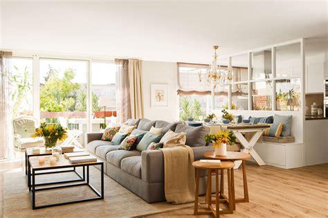 salones decoracion salones con comedor buenas ideas para compartir espacio