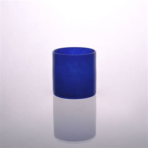 Colored Glass Pillar Candle Holders Glass Colored Votive Candle Holder For Decoration Glass