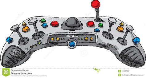 controller console console controller stock vector illustration of