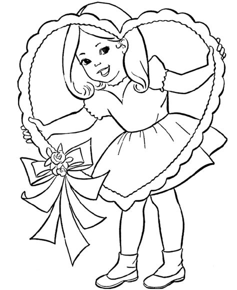 free valentines coloring pages for kids realistic